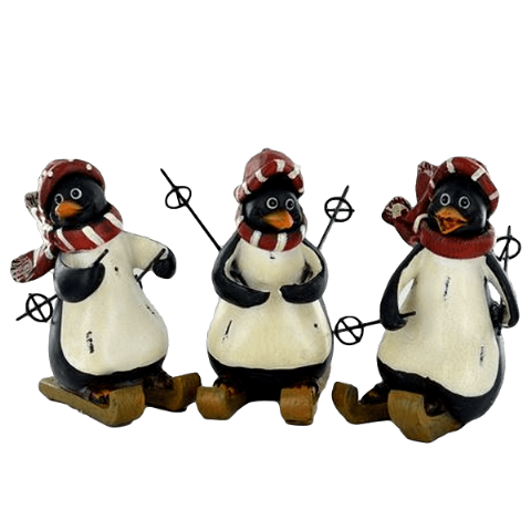 Christmas Skiing Penguin Ornaments